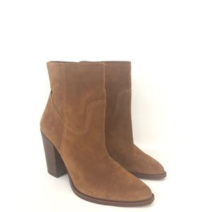 Dolce Vita 7.5 Brown Pointed Toe Suede Ankle Boots